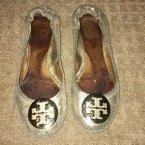 Gold Tory Burch flats size 7